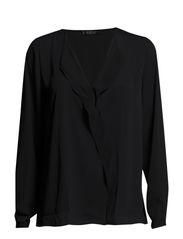 Ruffle blouse - Navy