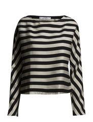 Oversize striped blouse - Black