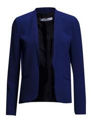 Inverted lapels blazer - Bright blue