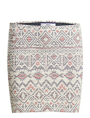 Jacquard cotton-blend miniskirt - Natural white