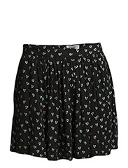 Heart print skirt - Black