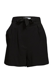Bow flowy shorts - Black