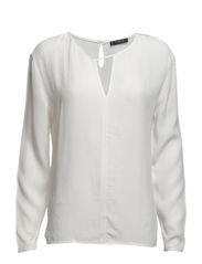 Notched detail blouse - Natural white
