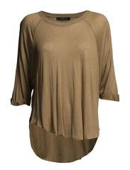 Cashmere-blend t-shirt - Medium brown