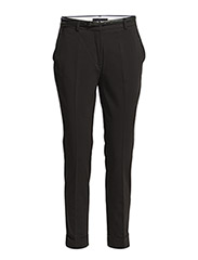 Rolled-up hem trousers - Black