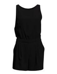 Cut-out back jumpsuit - Black