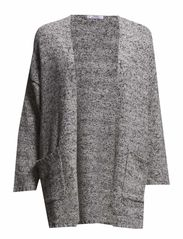 Flecked cotton-blend cardigan - Medium grey