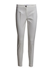 Cropped slim-fit trousers - Natural white