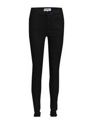 High waist jeans - Open grey