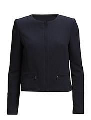 Zip-pocket textured jacket - Navy