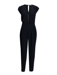 Zip long jumpsuit - Navy