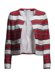Striped jacket - Bright red