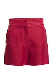 Linen bermuda - Medium red