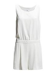 Short jumpsuit - Natural white