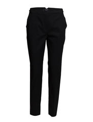 Slim-fit cotton-blend trousers - Black