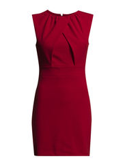 Wrapped detail dress - Bright red