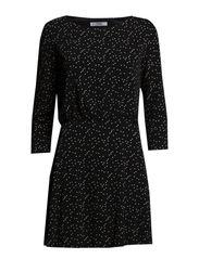 Flared skirt dress - Black
