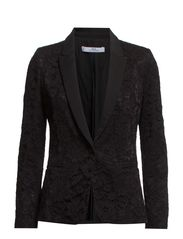 Guipure blazer - Black