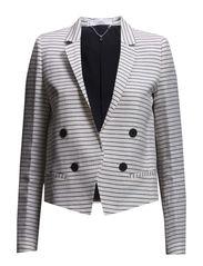 Striped blazer - Natural white