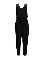 Shoulder detail jumpsuit - Black