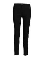 Zip cotton trousers - Black