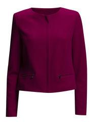 Textured jacket - Dark red