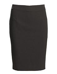Back vent midi skirt - Black