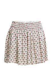Printed flared skirt - Light beige
