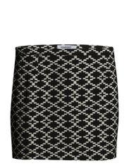 Geometric print miniskirt - Black