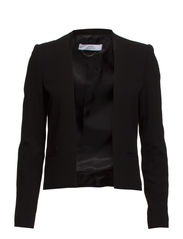 Trim cropped blazer - Black