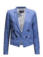 Linen cotton-blend blazer - Lt-pastel blue