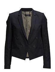 Linen cotton-blend blazer - Navy