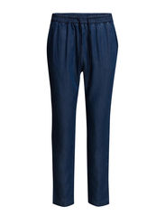 Baggy soft trousers - Open blue