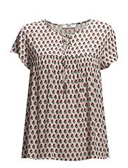 Flowy printed blouse - Lt-pastel pink