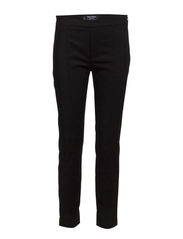 Seam-detail slim-fit trousers - Black
