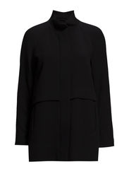 Straight-cut coat - Black