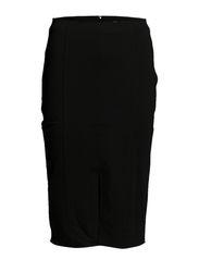 Vent pencil skirt - Black