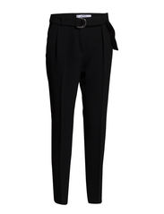 Hoop belt trousers - Black