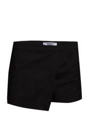 Cotton-blend skort - Black
