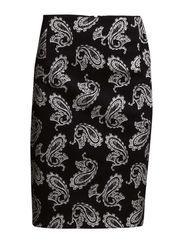 Paisley print skirt - Black