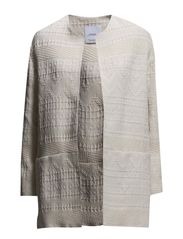 Embroidered cotton coat - Light beige