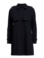 Cotton-blend trench coat - Navy