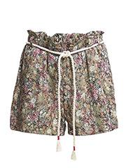 Floral print shorts - Beige - khaki