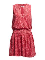 Printed dress - Bright red