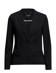 Classic cotton-blend blazer - Black