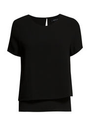 Crepe double-layer blouse. - Black