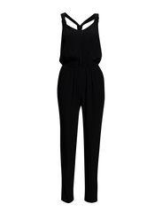 Crisscross strap jumpsuit - Black