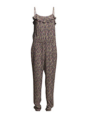 Printed long jumpsuit - Beige - khaki