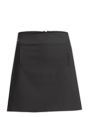 Pocket cotton-blend skirt - Black