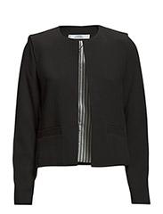 Padded shoulder jacket - Black